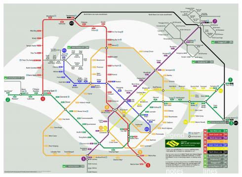 Bản đồ tàu điện ngầm tại Singapore