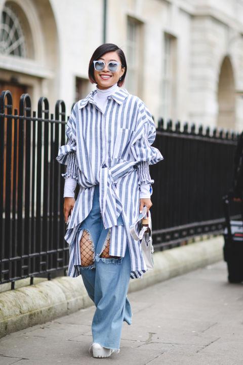 Muôn vẻ street style tại Tuần lễ thời trang London Thu-Đông 2017 - ELLE VN