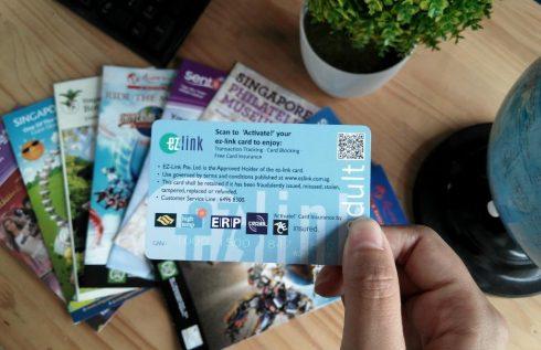Thẻ EZLink - thẻ đi tàu điện ngầm tại Singapore