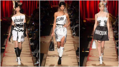 Những chiếc váy lấy cảm hứng từ túi giấy của Moschino
