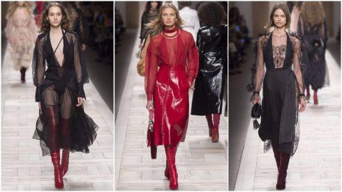 Những chiếc váy sheer khép lại BST của Fendi