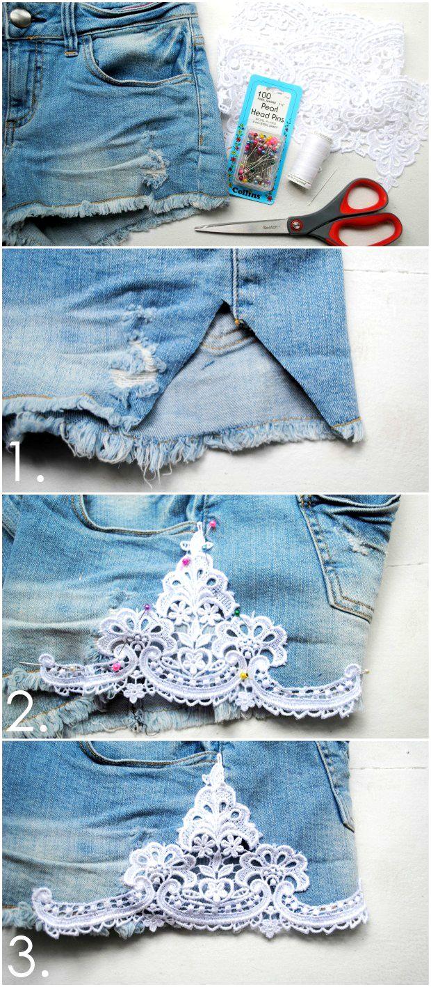 quần jeans ren