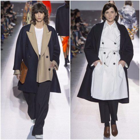 Dries Van Noten cũng đem lại những bộ trang phục layer 2 áo khoác đơn giản nhưng sáng tạo
