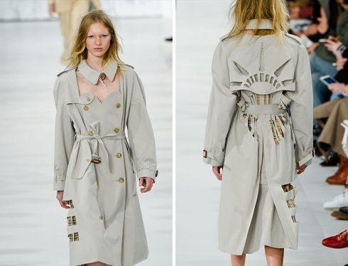 Chiếc áo trench coat độc đáo mở đầu show diễn của Maison Margiela