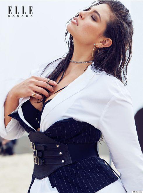 Siêu mẫu Ashley Graham trong tạp chí ELLE.