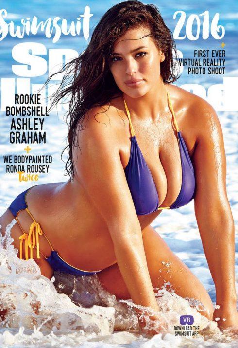 Siêu mẫu Ashley Graham trên trang bìa tạp chí.