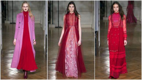 Những chiếc váy hồng, đỏ khép lại BST của Valentino