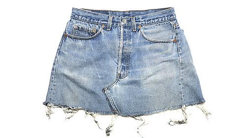 làm thành váy jeans