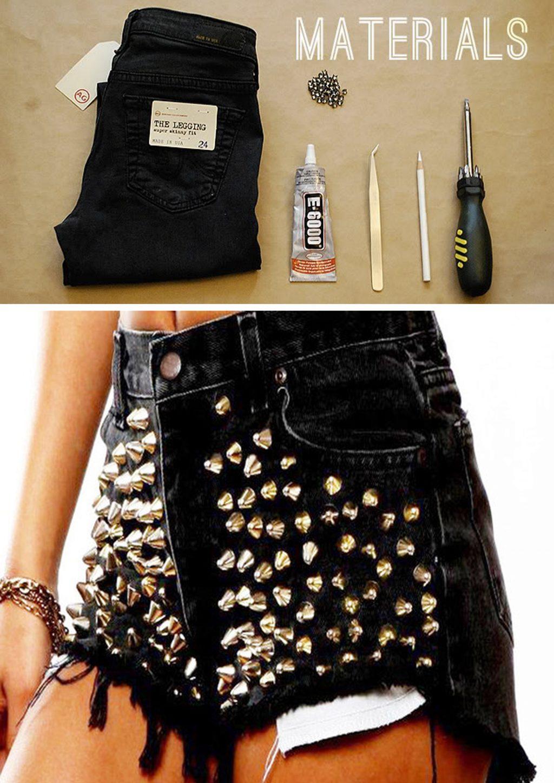 quần jeans nạm đính