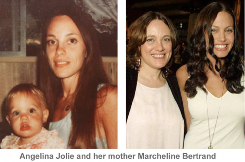 Angelina Jolie and her mom