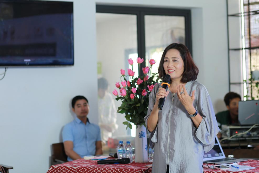 Bà Nguyễn Thị Sen Hoa chia sẻ tại sự kiện
