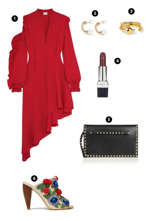 1. Magda Butrym/2. Maria Black/4. Dior/ 5. Valentino