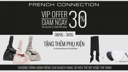 Ưu đãi mua sắm tháng 5 tại French Connection Việt Nam