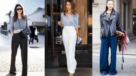 5 kiểu quần ống rộng vẫn là xu hướng thời trang của 2017