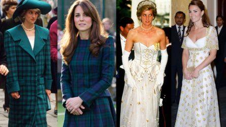 35 khoảnh khắc thời trang tương đồng của cố công nương Diana và Kate Middleton