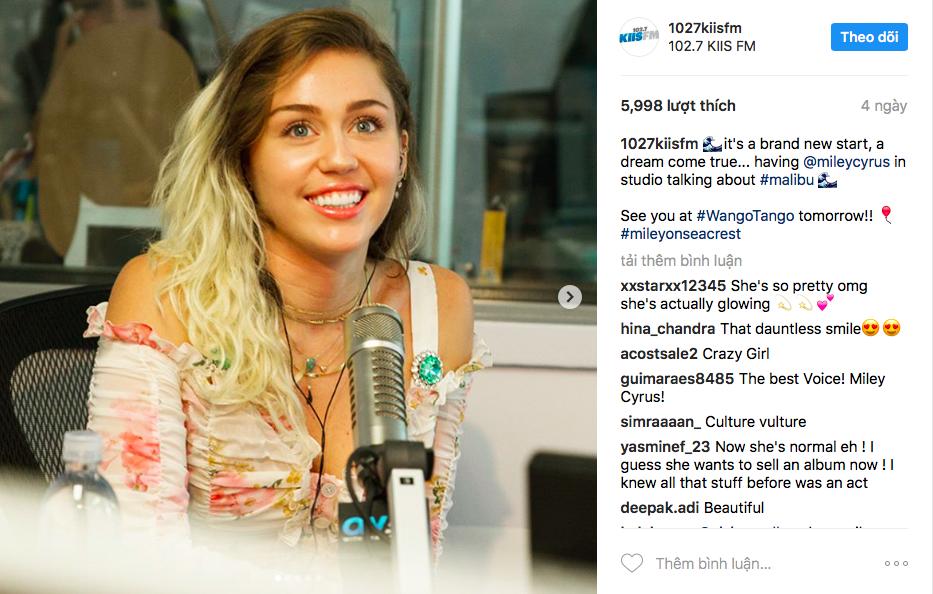 Ca khúc mới của Miley Cyrus
