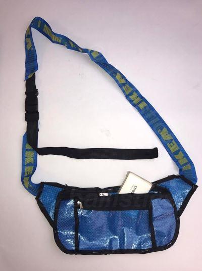 Phong cách thời trang độc đáo biến hóa từ chiếc túi IKEA