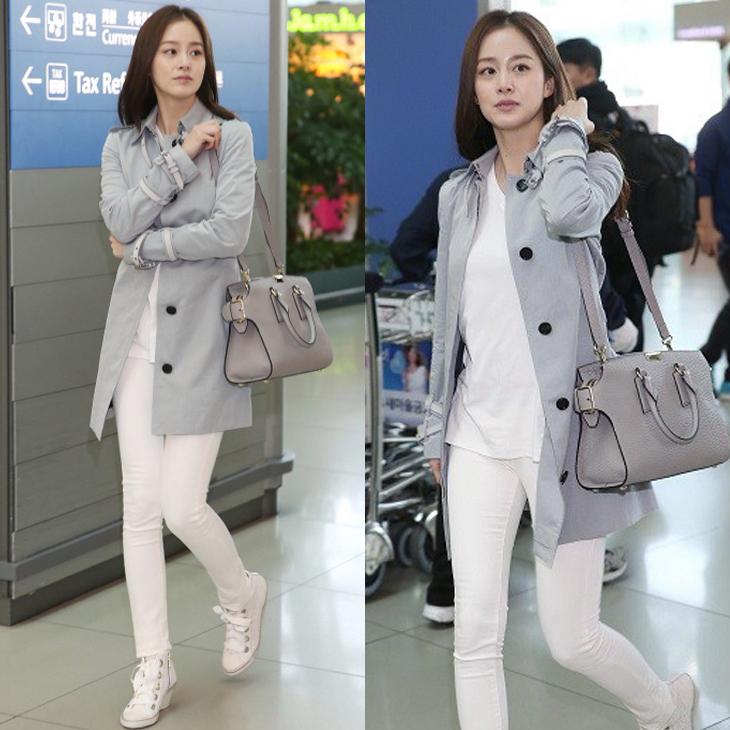 Kim Tae Hee và phong cách thời trang đơn giản tại sân bay