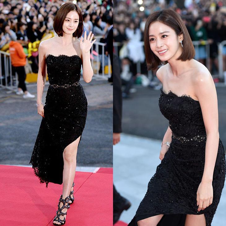 Phong cach thơi trang cua Kim Tae Hee thảm đỏ