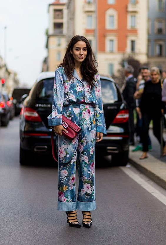 set đồ thời trang họa tiết pyjama