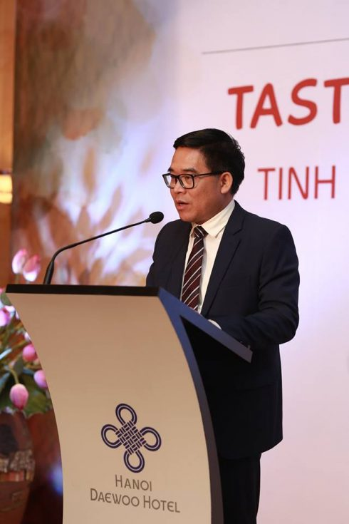 Ông Đỗ Đình Hồng – Giám đốc Sở du lịch Hà Nội phát biểu tại sự kiện.