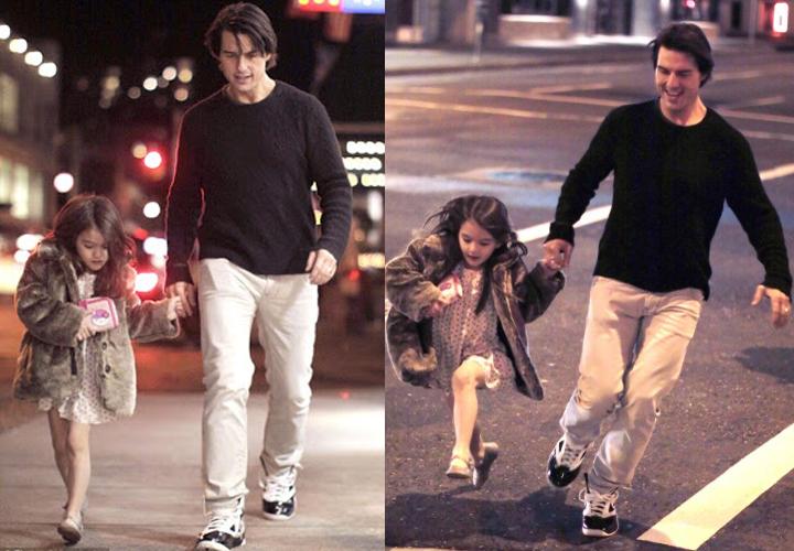 Những giay phút vui vẻ cùng con gái của Tom Cruise vào những năm 2012, trước lúc anh và Kate Homes chia tay.