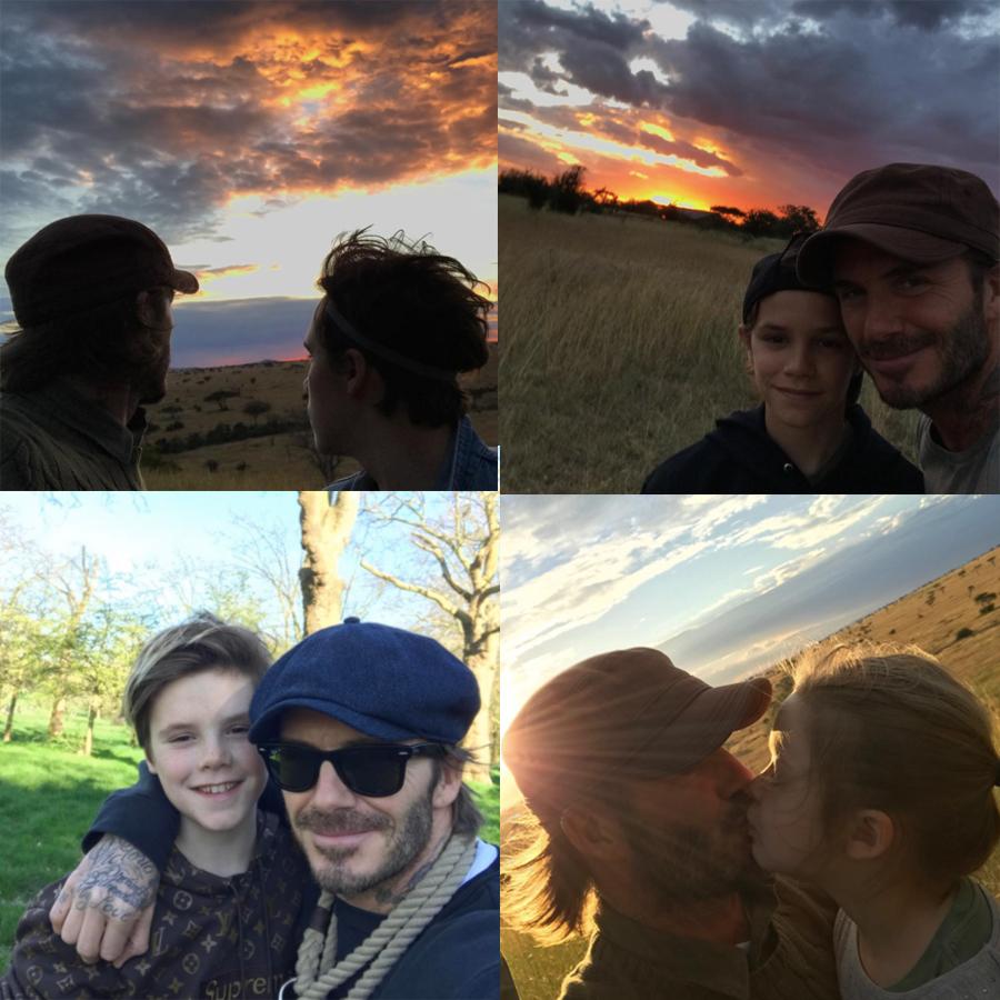 David Beckham thường xuyên chia sẻ những khoảnh khắc anh cùng các con bên nhau trên trang instagram cá nhân.