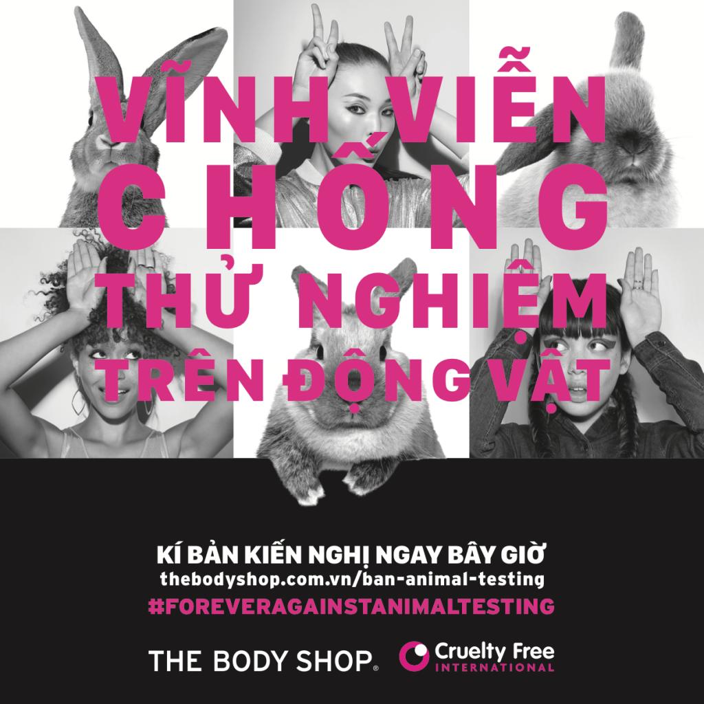 Cùng The Body Shop vĩnh viễn chống việc thử nghiệm trên động vật ELLE VN