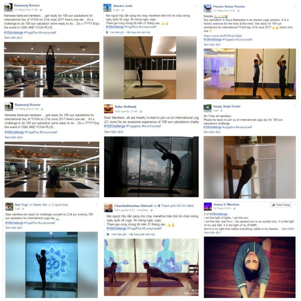 #108Challenge thu hút sự chú ý và gây ảnh hưởng ứng tốt trên mạng xã hội. Trong đó có sự tham gia của rất nhiều người thầy Yoga Ấn Độ nhân kỉ niệm ngày Yoga Quốc tế (20 - 21/6).