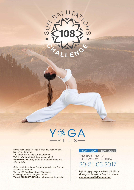 Sự kiện #108Challenge ngay tại Yoga Plus trong 2 ngày 20-21/6
