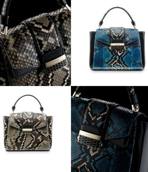 SHINY KARUNG pha chút phong cách kì lạ. Sản phẩm có 2 tone màu của2 loạiđá quý: Ivy Tourmaline và Royal Sapphire. Mỗi chiếc túi là sự kết hợp công phugiữa2-3 mảng da rắn đã trải qua quá trình xử lí bằng kĩ thuật hiện đại bậc nhất.<br/>bvlgari