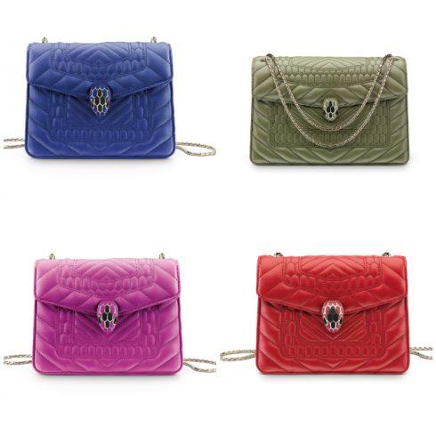 SERPENTI VIPER là biểu tượng quyến rũ của BVLGARI, phong phú về màu sắcvà mẫu mã, quai tay cầm và dây đeo có thể tùy chọn theo ý khách hàng.