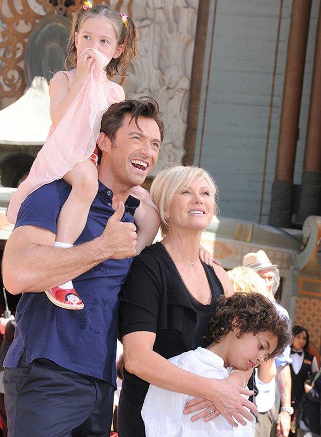 Gia đình hạnh phúc của Hugh Jackman