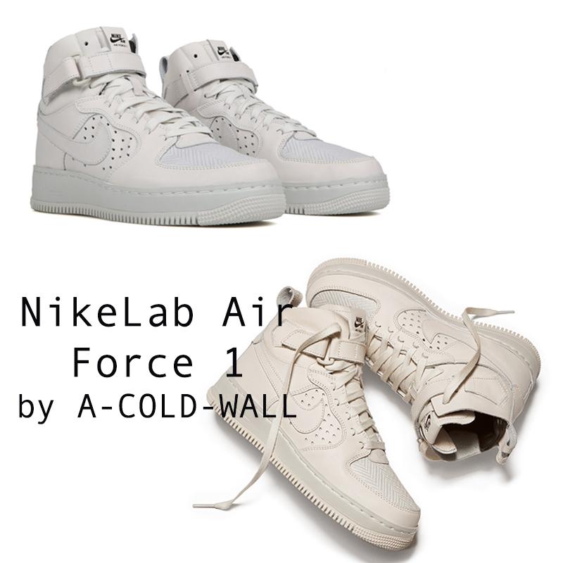 Samuel Ross - người sáng lập A-COLD-WALL đã miêu tả NikeLab Air Force 1 là sự kết hợp một cách hài hoà giữa trắng và xám, không quên logo của Nike và dòng chữ A-C-W trên thân giày. Samuel Ross khẳng đjnh rằng mình đã làm hết mình và thực sự nghiêm túc để tạo ra siêu phẩm Air Force 1 High này.