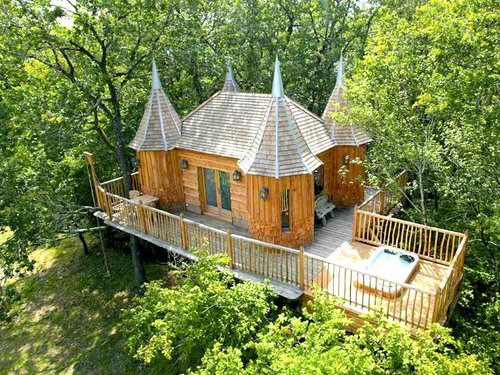 4. Milandes Treehouse, Pháp