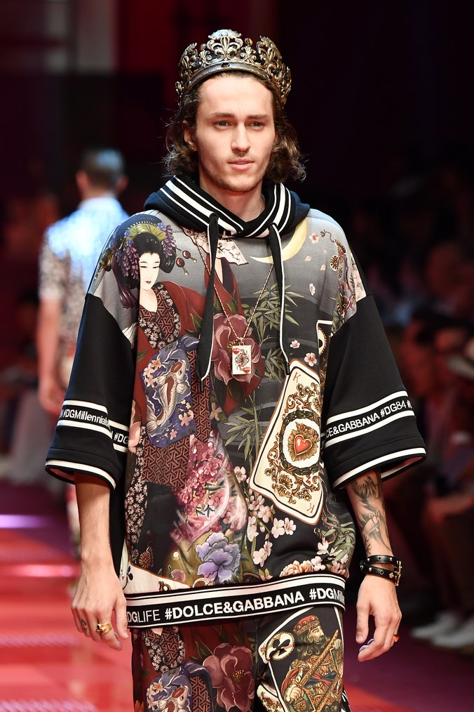 Braison Cyrus at Dolce and Gabbana Menswear Spring 2019