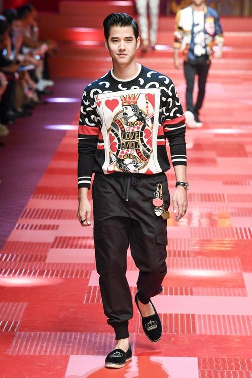 Mario Maurer at Dolce & Gabbana Menswear Spring 2018