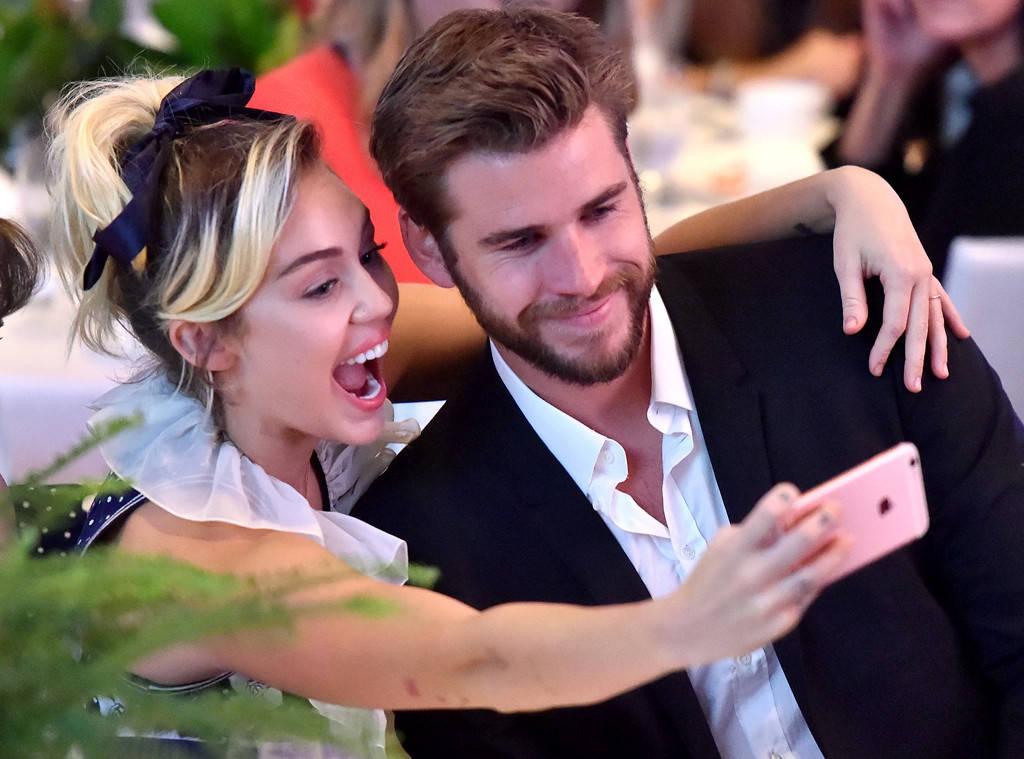 Miley Cirus chụp ảnh cùng Liam trong sự kiện gần đây nhất