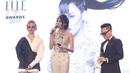 Lan Khuê đoạt giải Người mẫu của năm tại ELLE Style Awards 2017