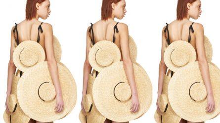 Chiếc váy $3000 được làm từ những chiếc mũ cói