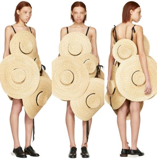 váy làm bằng mũ cói của Jacquemus
