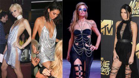 """Những lần Kendall Jenner """"học tập"""" phong cách thời trang của Paris Hilton"""