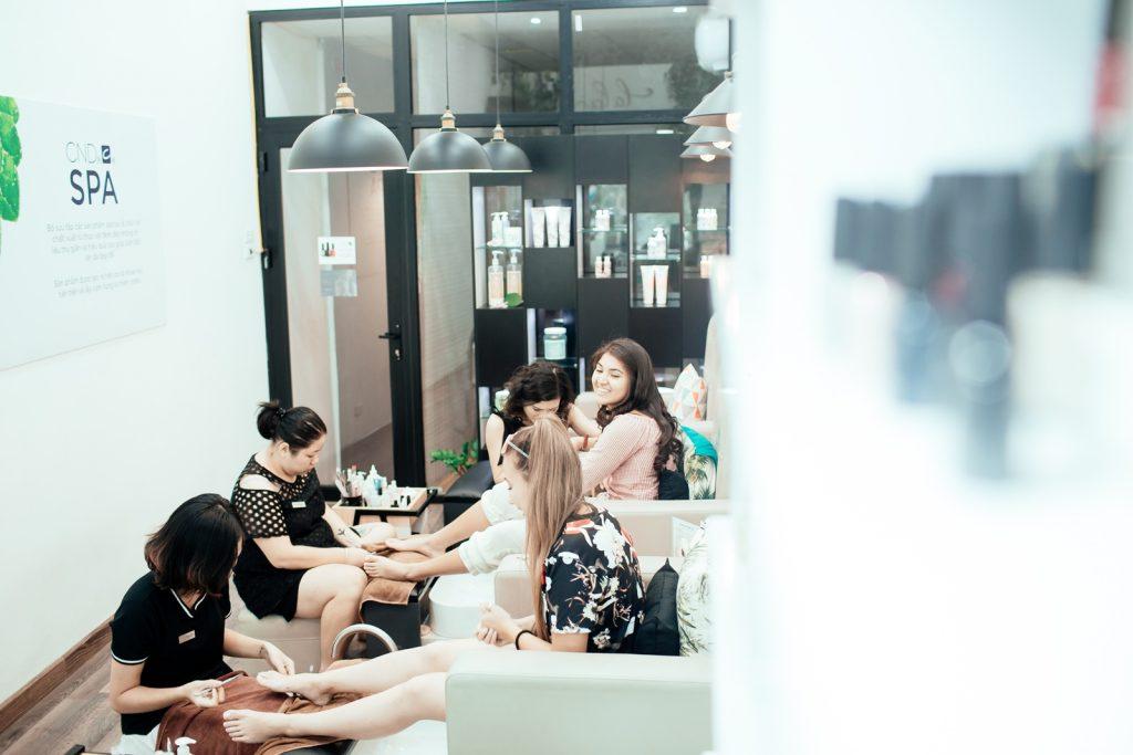 Lala nail studio tạo được cảm giác thư thái cho khách hàng đến sử dụng dịch vụ