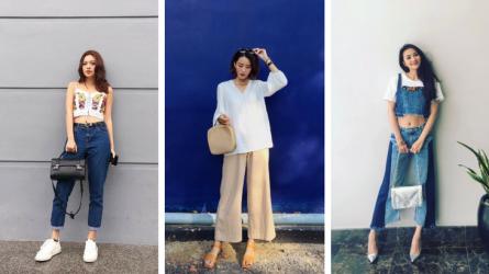 """Fashionista Việt """"rủ nhau"""" chọn sắc trắng-denim cho tủ đồ street style giữa tháng 7"""