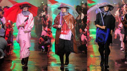 Thời trang mũ chống nắng xuất hiện trong show diễn của Raf Simons