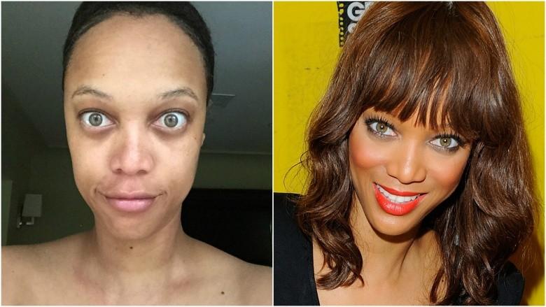 Siêu mẫu Tyra Banks không ngần ngại khoe ảnh mặt mộc của mình trên mạng xã hội