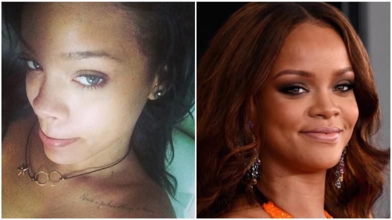 Rihanna vẫn luôn vô cùng quyến rũ dù cho cô có đang trang điểm hay không