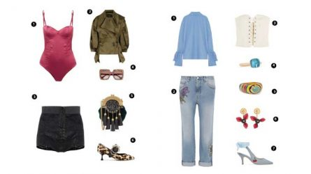 ELLE Style Calendar: Phối đồ cùng áo corset (24/7-30/7)