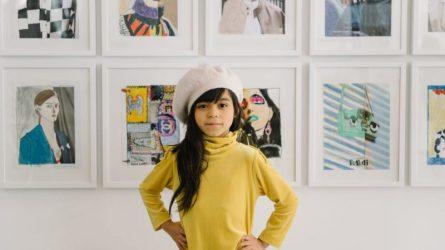 Họa sĩ nhí Giana - tài năng hội họa chủ trì triển lãm tranh nghệ thuật khi chỉ vừa 7 tuổi