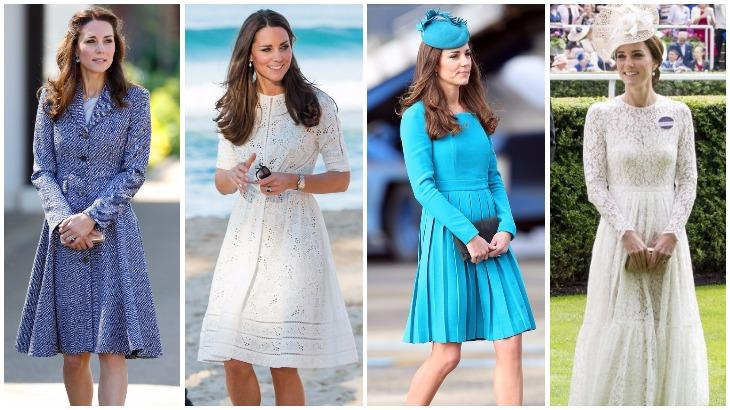 Kate trung thành với phong cách giản dị với những chiếc đầm trang nhã, ít họa tiết cầu kì nhưng không kém phần quý phái